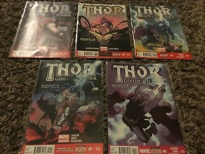 Thor God Of Thunder  7-11 Godbomb Parts 1-4 + Conclusion Marvel Now Comics -2013