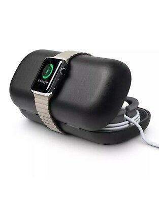 Twelve South Apple Watch TimePorter Travel Case Charging Stand Black