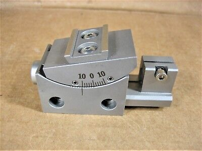 Goniometer Rotary Angle Stage 40mm x 25mm + - 10 Degree with Rail,  Steel