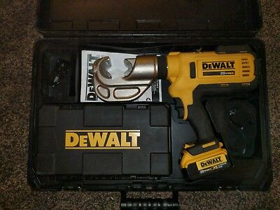 Dewalt Dce300M2 Died Electrical Cable 12 Ton Battery Powered Crimping Tool Kit