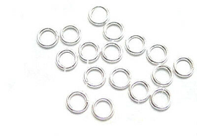 500 Silver Plated OPEN Jump Rings 5MM 20 Gauge
