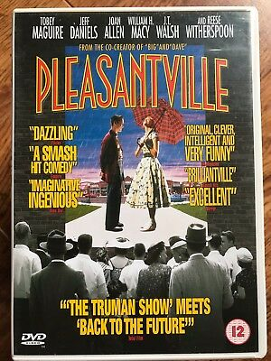 Tobey Maguire Reese Witherspoon PLEASANTVILLE ~ 1998 Fantasy Drama UK DVD