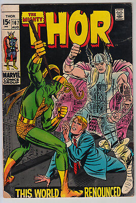 Thor #167 - VG  Cents