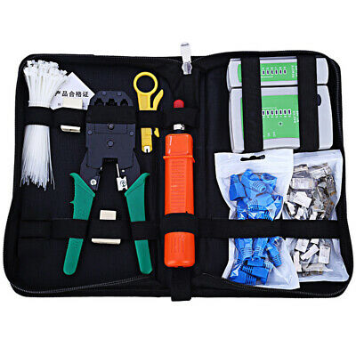 Network Computer Maintenance Repair Tool Kit Cable Tester Cross Flat Screwdriver