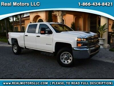 2018 Chevrolet Silverado 2500 Work Truck Crew Cab Long Box 4WD 2O18 ONLY 604 miles, Like New, Financing Available (call in advance). Clearwater