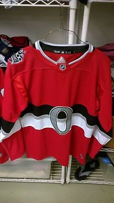 the best attitude 38dac f3450 NEW CUSTOM ADIDAS NHL 100 CLASSIC OTTAWA SENATORS RED JERSEY SIZE 48  w/NUMBER 75