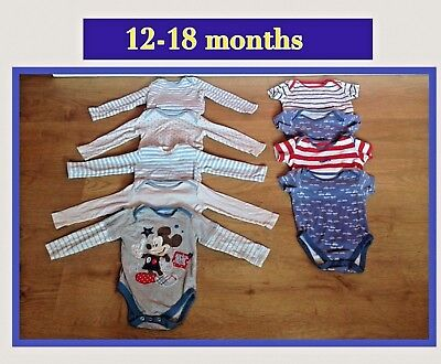Bundle of long & short sleeve vests ~ 12-18mths ; NEXT/DISNEY etc..