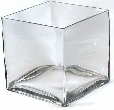 Square Glass Vase Centerpiece Flowers Candle Holder 5x5 678