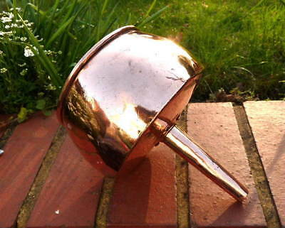 LATE GEORGIAN MILITARY COPPER  FUNNEL with DOVETAILED SEAMS & RIVETS