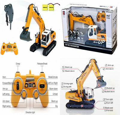 DoubleE RC Excavator Tractor Toy Construction Vehicles 17 Channel Truck...