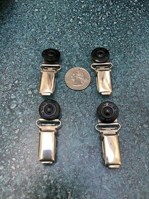 Four Vintage CAS Suspender Clips Germany