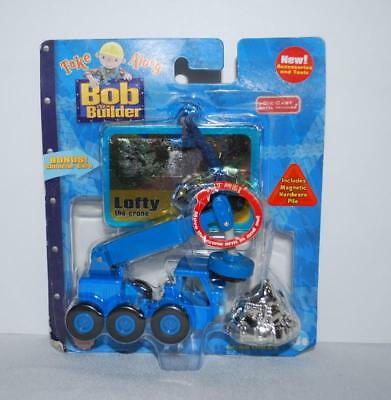 Bob the Builder Take Along Diecast Lofty Blue Crane Magnetic Truck Sealed