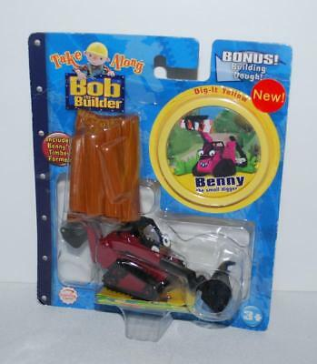 Bob the Builder Take Along Diecast Benny Digger Timber  Building Dough Sealed