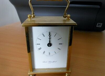 Carriage Clock Robt Blandford 1873  Roman numerals and swing handle Not working