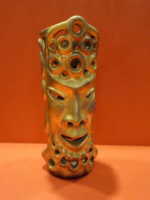 "All Original Sascha Brastoff Golden ""tiki"" Candle Holder Gorgeous !"