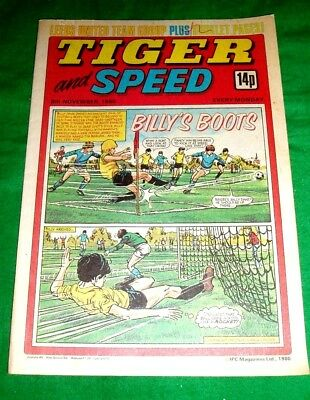Tiger Comic 1980 With A Stunning  Leeds United  Colour Centrefold Team Poster