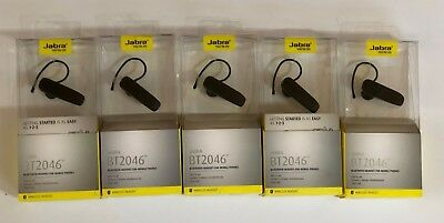 Lot Of 5 Jabra Bt2046 Bluetooth Headset For Mobile Connect 2 Devices-Black