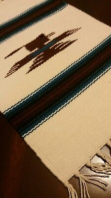 """Chimayo 100 % Wool Textile 15"""" x 10""""  Weaving Made in Northern New Mexico"""