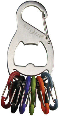 Nite Ize  Key Rack  Stainless Steel  S-Biner  Key Chain  Silver