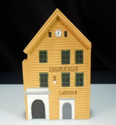 Norway Folk Art Odin Od-In Hand Painted Wood House Front Building Figurine 51557