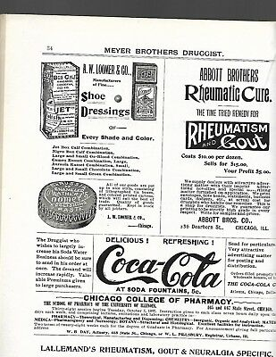 Very Scarce July 1897 Meyer Brothers Druggist Coca'cola Strip Ad Complete Issue