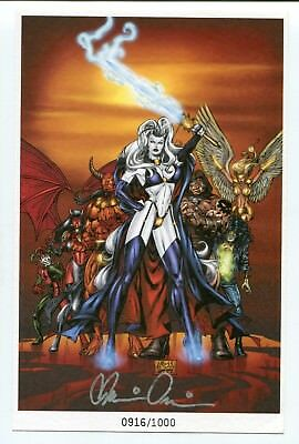 Chaos! Comics Lady Death Limited Edition Print L Ross Signed by Brian Pulido