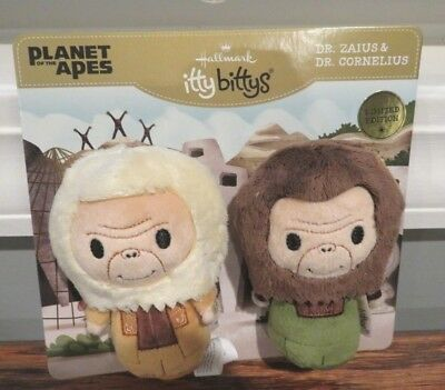 Hallmark Itty Bitty Bittys Planet of the Apes LE Dr. Zaria & Dr. Cornelius LTD