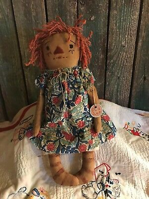 "Primitive Raggedy Ann, ""Just Another Annie""  Plain and Simple Ole Rag Doll"