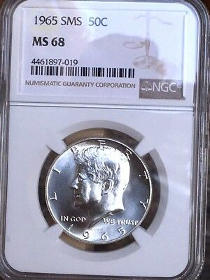 1965 Silver Kennedy NGC SMS 68 * Price Guide $475 - Premium Quality *