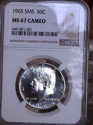 1965 Silver Kennedy NGC SMS 67 Cameo * Price Guide $585 RARE! *