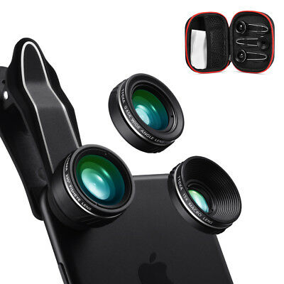 Fisheye Wide Macro Cell Mobile Phone Camera Photo Lens Clip-on For iPhone TK311