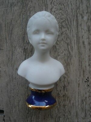 French Bisque Porcelain Bust Of Louise Brongniart Houdon