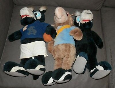 1980's SANFL Vintage Soft Toys Lot of 3 - South Adelaide x 2, West Torrens x 1