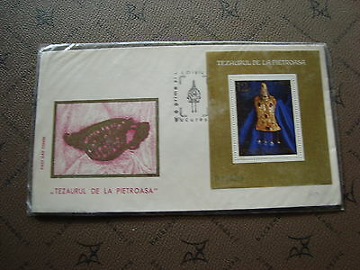 ROMANIA envelope 25/7/73 - Stamp Yvert and Tellier bloc n°108 (cy2)