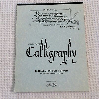 Calligraphy Artists Pad 50 sheets Parchment Paper 280mm x 360mm Made Australia