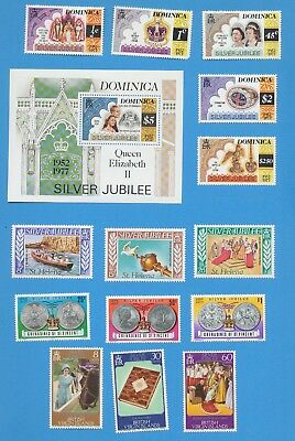British Omnibus - 1978 Silver Jubilee - MNH-  7 countries  - three scans