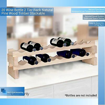 20- Bottle Timber Wine Rack
