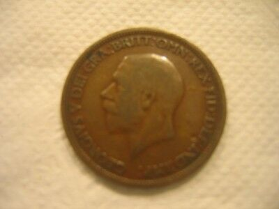 1929 Great Britain Half Penny (GREAT COIN) George V