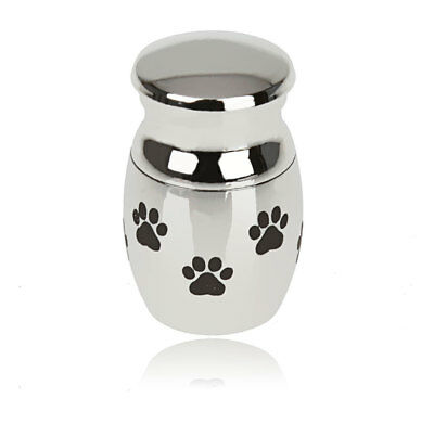 Stainless Steel Mini Keepsake Urn for Ashes Cremation Memorial Holder Silver