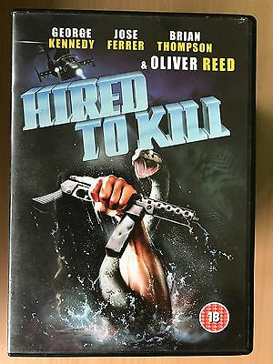 Oliver Reed George Kennedy HIRED TO KILL ~ 1990 Mercenary Thriller ~ UK DVD