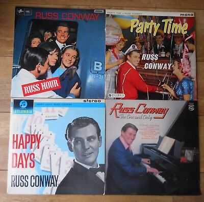 job lot 5 X Russ Conway LPs Russ Hour, Party Time, Happy Days, The One And Only