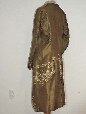 Rare! 1770's Gents Italian Silk Pastel Hand Embroidered Tail Coat