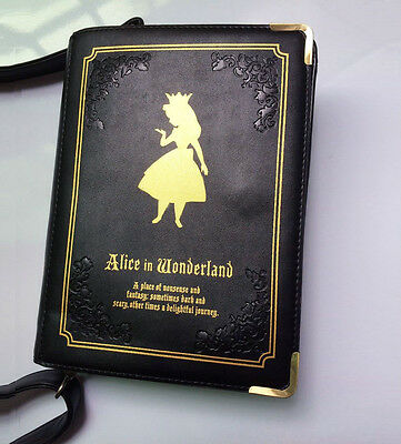 Alice in Wonderland Antique Handbag magic book shoulder bag Vintage hand made