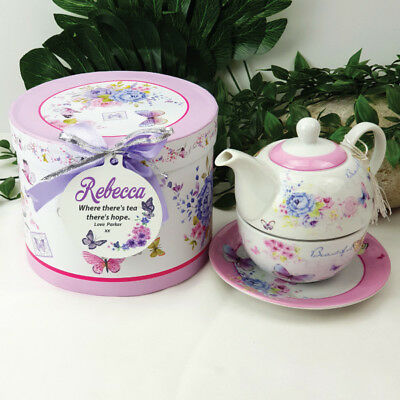 Tea for One in Personalised Gift Box - Butterfly - Made to Order
