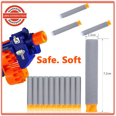1000pcs Nerf Gun Soft Refill Bullets Darts Round Head Blasters For N-Strike Toy