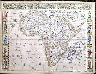 1676 AFRICA Map John SPEED * First English Map of Africa * Fine Condition * RARE