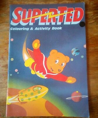 Super Ted 1987 Vintage/Retro Childrens colouring and activity Book Rare