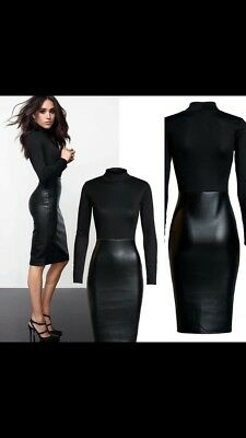Markle leather look  dress river island topshop