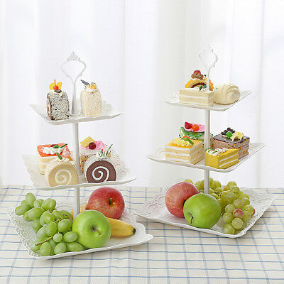 Three Tiers Cake Display Stand Platter Dessert Stand Party Plate Fruit Stand AU
