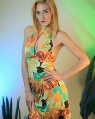 Vintage Ming 70's halter dress size extra small